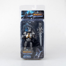 "2017 New 7"" Fall Of Lich King Arthas Animation  Action Figures For WOW DC Direct Sealed Classic Scene Toys"