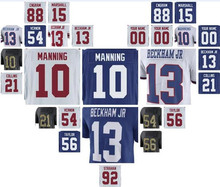 new york ny giants odell beckham jr jersey eli manning lawrence taylor Evan Engram game custom american jerseys stitched 4xl