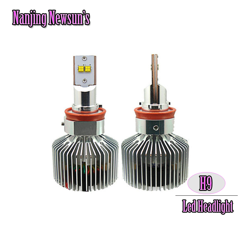 1Set H9 Led Headlight Conversion Kits W/ Driver 6000K Xenon White Driving Front Head Lamp Bulb Auto Led Replacement Bulbs <br><br>Aliexpress