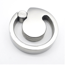 Buy stainless steel ball stretcher U-groove design scrotum bondage male chastity device Cock Ring Lock penis extension