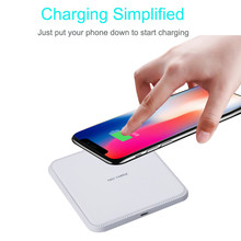 White High Quality Qi Wireless Charger Power Charger Wireless Charging Pad For iPhone 8/8 Plus/X(China)