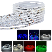 5m SMD3528 RGB Flexible LED Strip Light 60leds/m IP20 IP65 IP66 DC12V Flex LED Bar Ribbon Tape Ledstrip String 8 Colors