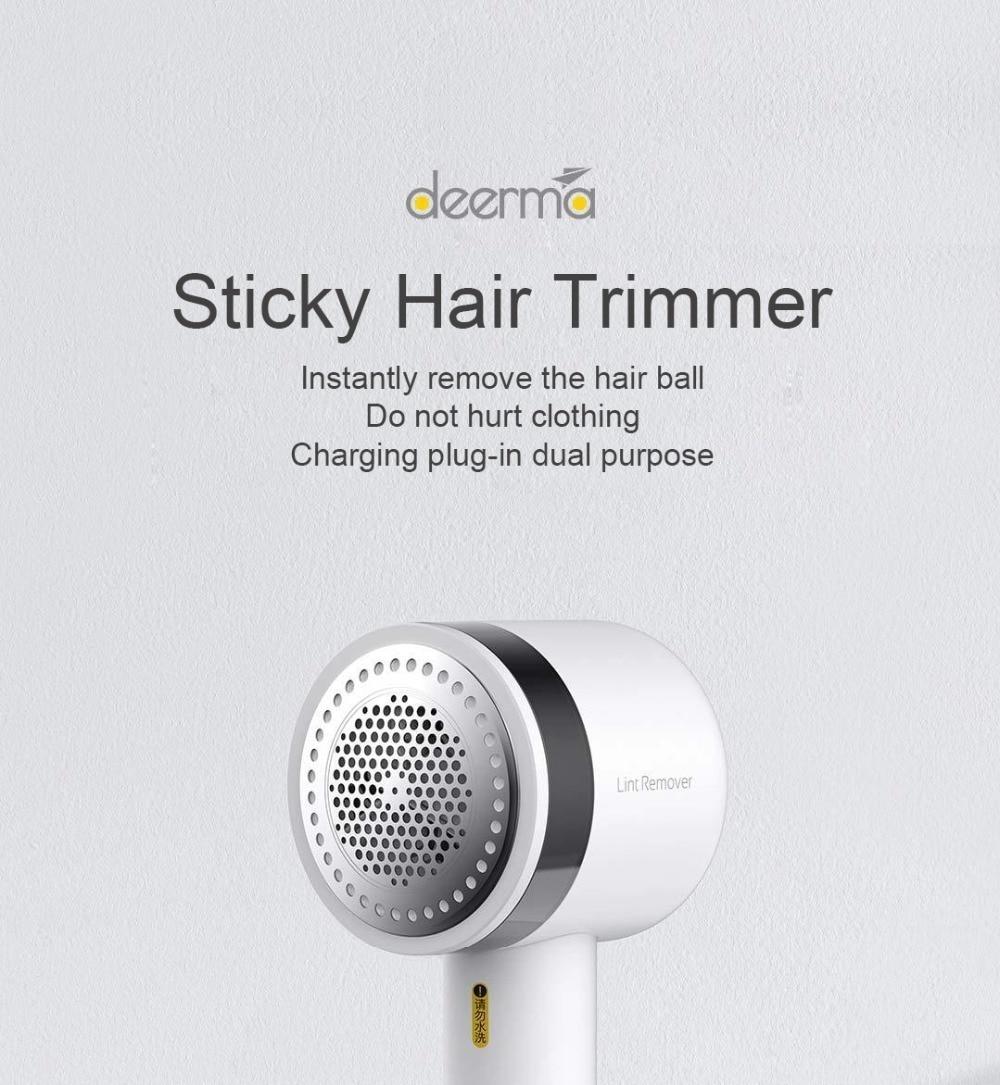 Xiaomi Deerma 2in1 Portable Lint Remover Hair Ball Trimmer 7000r//min Motor