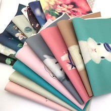 PU fabric for diy bag sewing patterns print craft material cloth patchwork cheap waterproof fabrics textile bags tissu oilcloth(China)