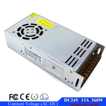 Universal 24V 15A 360W Power Supply Switch Switching Led Driver Transformer 110v 220v AC to dc24v For CNC Machine DIY LED CCTV(China)