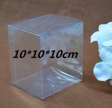 Qi Size:10*10*10cm 10pcs/lot Jewelry Plastic Packaging Clear Box Square Size Display Boxes Transparent Gift Packing Craft Boxes