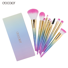 Docolor 10PCS  makeup brushes set Fantasy Set Professional high quality Foundation Powder Eyeshadow Kits  Gradient color (China (Mainland))