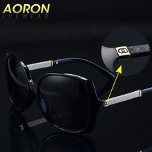 Luxury Brand Aoron women Polarized UV400 Sunglasses For Women vintage Glass Female Original Famous Sun Glasses with logo C 9110(China)