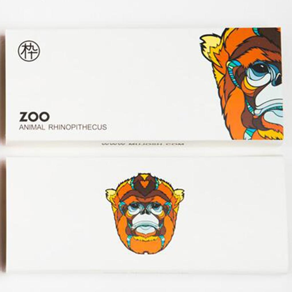 Animal Protector Cartoon Tats Pattern Glasses Case Eyeglasses Clam Shell Holder Storage Box