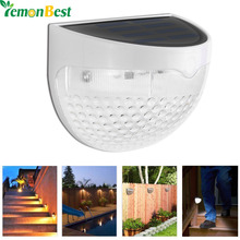 Solar Led Wall Lamp 6 LED Light Sensor Auto ON/OFF Waterproof Cool White Warm White for Stair Outdoor Post Garden Fence Yard(China)