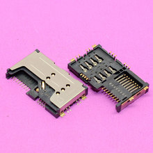 Replacement Sim card holder reader connector for double card cell phones memory card adapters module.