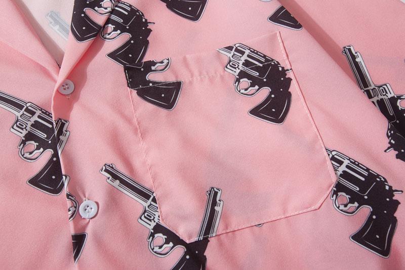 Pistol Gun Print Hawaiian Shirts 3