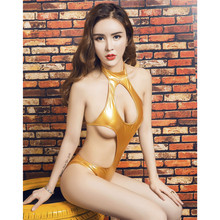 Buy light halter Hollow Big back Conjoined Bikini Swimsuit costumes body sexy lingerie porno latex catsuit bodystocking lenceria
