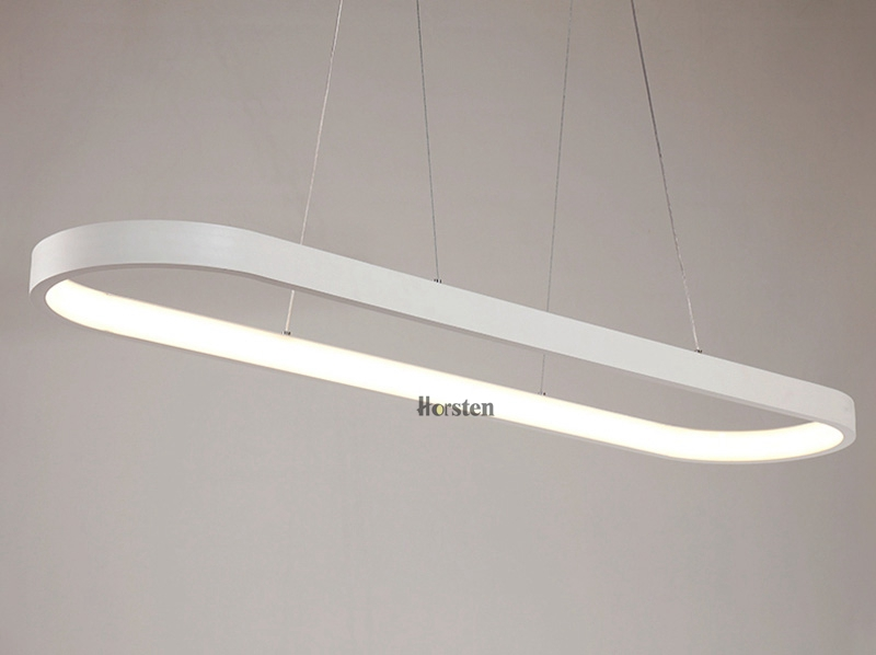 Modern Minimalism Oval Ring LED Pendant Lights Aluminum Acrylic Suspension Hanging Lamps For Dining Room Restaurant Office (11)