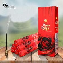 India Incense Big Box Red Rose Flower Incense Imported Aroma Incense For Living Room(China)