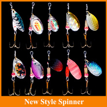 5pcs spinner  Spyner Metal Lures Fishing Lures Hard Bait Fresh Water Bass Walleye Crappie Minnow Fishing Tackle