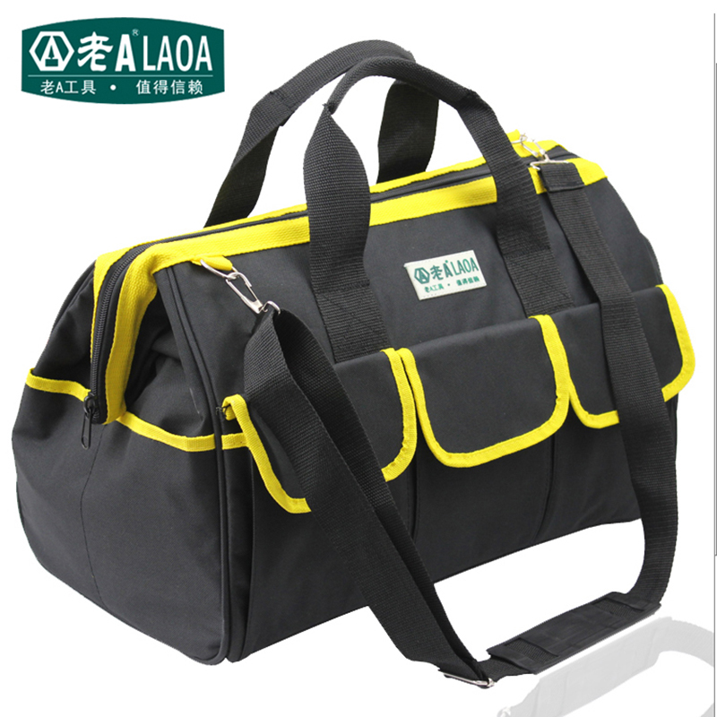 LAOA  Multifunction Tool Bag Large Capacity Thicken Professional Repair Tools Bag 12inch 14inch 18inch Messenger Toolkit Bag<br>