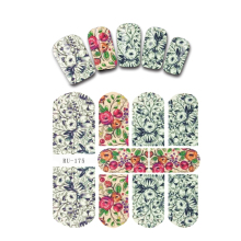 UPRETTEGO NAIL ART BEAUTY WATER DECAL SLIDER NAIL STICKER FLOWER LEAF TROPICAL BANBOO OLD NEWS PAPER RU175-180(China)