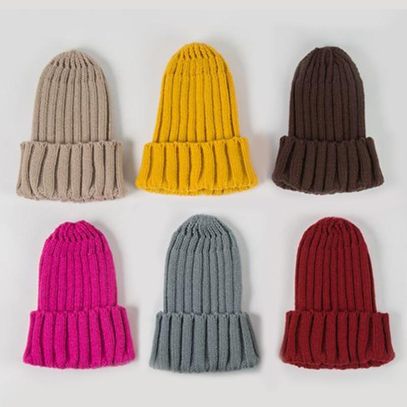 Knitted Kids Beanie Cap Infant Newborn Baby Boy Girl Hat Warm Childrenx Baby Autumn Winter Girls Hat For Kids Toddler Bonnet Cap 5
