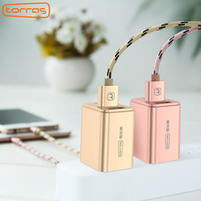 TORRAS Newest Carregador Portatil USB Wall Charger 5V2.4A Universal Portable Travel Charger Adapter for iPhone Android Phone(China)