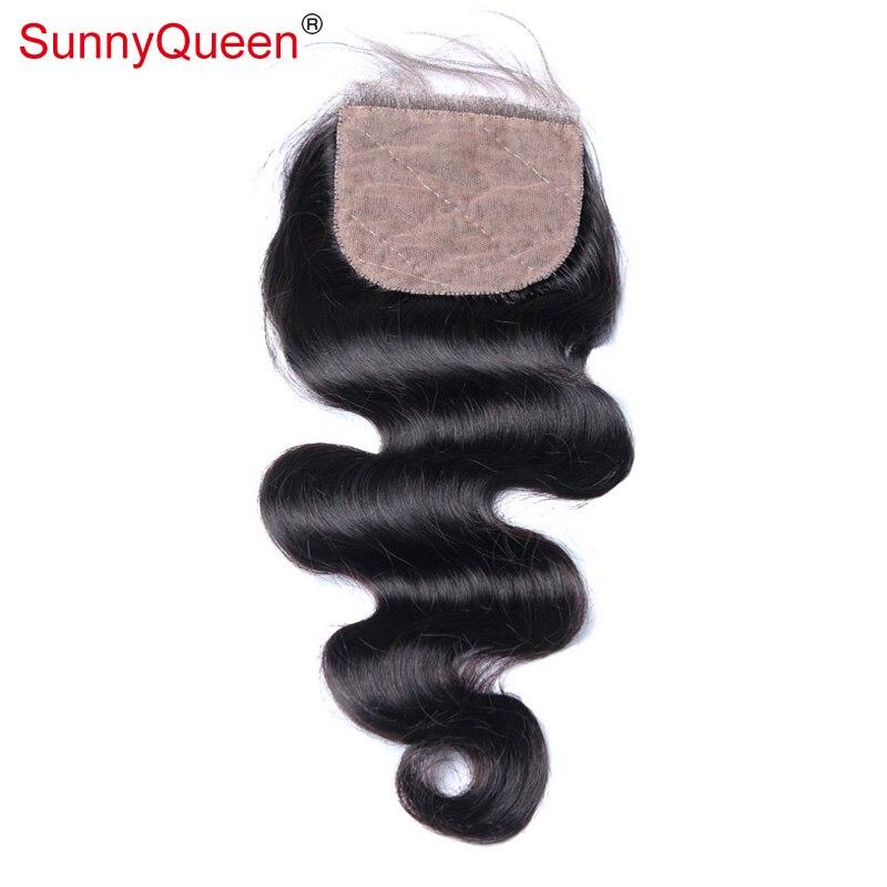 Silk Base Closure Virgin Brazilian Body Wave Closure Bleached Knots 100% Brazilian Body Wave Human Hair Silk Base Lace Closure<br><br>Aliexpress