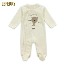 Leferry New Brand Cotton Baby Rompers Long Sleeves Newborn Infant Clothing Toddler Fashion Boys and Girls Baby Costume(China)