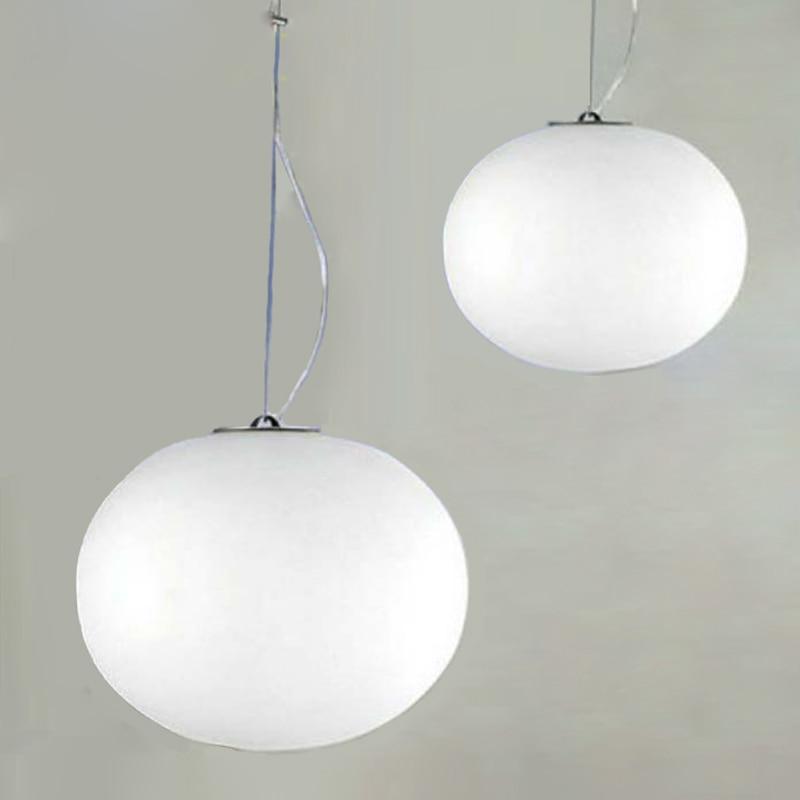Modern Minimalist Pendant Lights Milk White Glass Ball Pendant Lamps Restaurant/Bar Lamp Diameter 18/24/33/45cm<br>