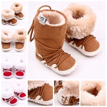 2Color New Fashion Brand Newborn Baby Infant Girls Warm Bowknot Snow Boots Crib Shoes Toddler Warm Fleece Prewalker Boots 0-1T