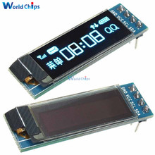 0.91 Inch 128x32 IIC I2C Blue OLED LCD Display DIY Oled Module SSD1306 Driver IC DC 3.3V 5V For Arduino PIC Hot Sale