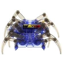 High Quality DIY Assemble Intelligent Electric Spider Robot Toy Educational DIY Kit Hot Selling Assembling Building Puzzle Toys