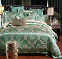 Luxury jacquard cotton/silk BEDDING bedding set /duvet cover SET /bed sheet /comforter set quilt cover(China)