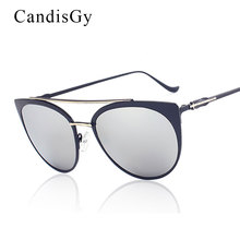 Pilot Sunglasses Luxury Brand Designer 2016 New Cat Eye Vintage Women Sunglasses Cross Metal Shades Female Today Deal offer