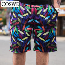COSWE Mens Summer Shorts Plus Size Board Shorts Men Fashion Beach Shorts Pinted Funny Boardshorts Loose Homme Short Pants 6XL(China)