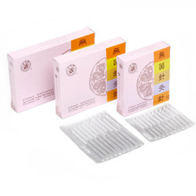 100 pieces/pack individual package disposable acupuncture needle silver handle Health care massage(China)