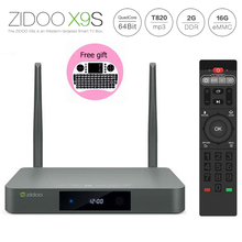 Buy Original ZIDOO X9s TV BOX Android 6.0 + OpenWRT, NAS Realtek RTD1295 2G/16G Set top tv box 802.11ac Media Player Keyboard for $149.34 in AliExpress store