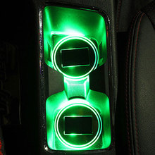 3 Colors Car Anti-Slip Mat Waterproof Solar LED Light Cup Holder Mat Pad Bottle