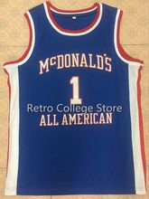 stitching TRACY McGRADY #1 Dolphins McDonald ALL AMERICAN high quality basketball jersey Retro throwback College Cheap menswear(China)