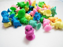 Normal Soft Plastic Sucker Dolls Mini Monster Suction Cup Kids Ocean Animal Capsule Model Collector Action Figure Toy 500Pcs/lot