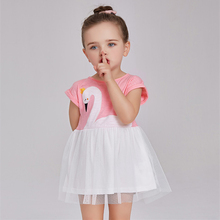 Summer Baby Girls Dress Swan Princess Dresses For Girl Infant Chiffon Party Child Clothing Vestido Kids Cute Sundress Costume