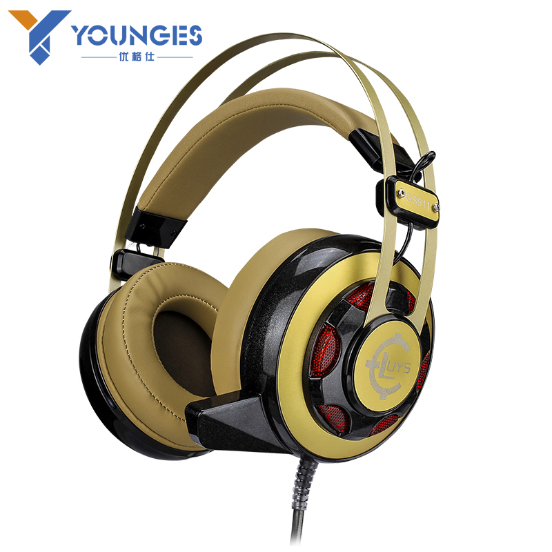 Professional PC Games Brand Headset Internet Bar Bass Lighting Game High Quality HIFI Headphones with Microphone<br><br>Aliexpress