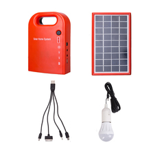 Portable Large Capacity Solar Power Bank Panel 2 LED Lamp Male Female USB Cable Battery Charger Emergency Lighting System