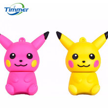 Cute USB Flash Drive 32gb Classic cartoon Pikachu/Picacho 4GB/8GB/16GB Pen Drive Cards U disk memory stick Classic anime Pokemon