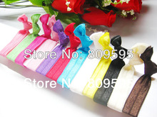360pcs/lot 12colors Soft knotted elastic hair ties ponytail holder hair accessory