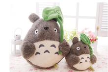 25cm Japane anime my neighbor totoro plush doll stuffed toys totoro with lotus leaf totoro plush toys for kids gifts