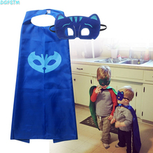 2017 New Mask+cape superman spiderman kids superhero capes batman super hero girls costume suits for boys for party for kid 2-8Y