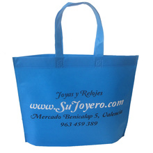 500pcs/lot mini wholesale 500pcs! 50%-60% discount shipping cost,two color logo print non woven bag home market handle bags(China)