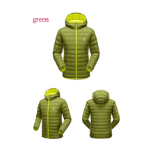 Men Outdoor hiking hooded down jacket climbing white duck down jacket Thermal Autumn and winter outdoor hiking ski coat brands