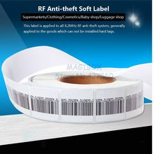 1000pcs/roll 8.2MHz RF Soft Label , Security Anti-theft Tags ,RF Barcode Stickers ,EAS system(China)