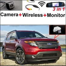 3 in1 Special WiFi Camera + Wireless Receiver + Mirror Monitor Back up Parking System For Ford Explorer Sport U502 MK5 2010~2015