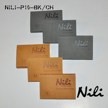 NILI pool cue tips 14mm 3pcs / pack / Pool sticks tip / H/M/S 10 layers leather tip /Billiards accessories/Black /Brown(China)